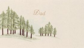 Dad with Variegated Fir Trees