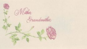 Mother/Grandmother with Roses