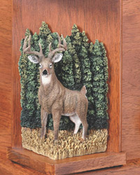Deer on woodbridge cap panel